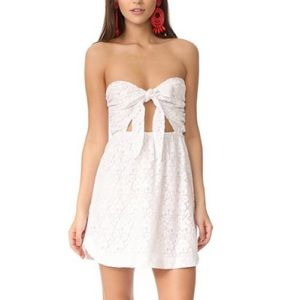 For Love and Lemons Strapless Shirt Dress
